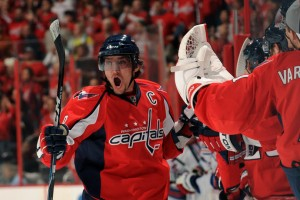 Ovechkin Celebrates the Capitals' First Goal in Game 5